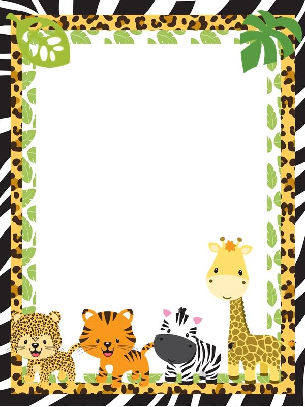 Frame clipart safari Pixelpaperprints safari de la y