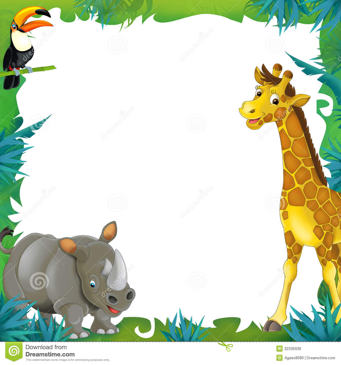 Frame clipart safari Cartoon Children The Illustration Frame