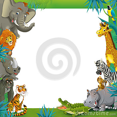 Frame clipart safari Jungle children the  frame