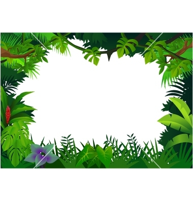 Ivy clipart jungle leaves background Vector frame Clip by 506296