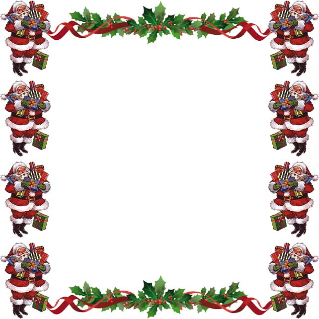 Holley clipart christmas letter Frame Borders Santa Christmas Free