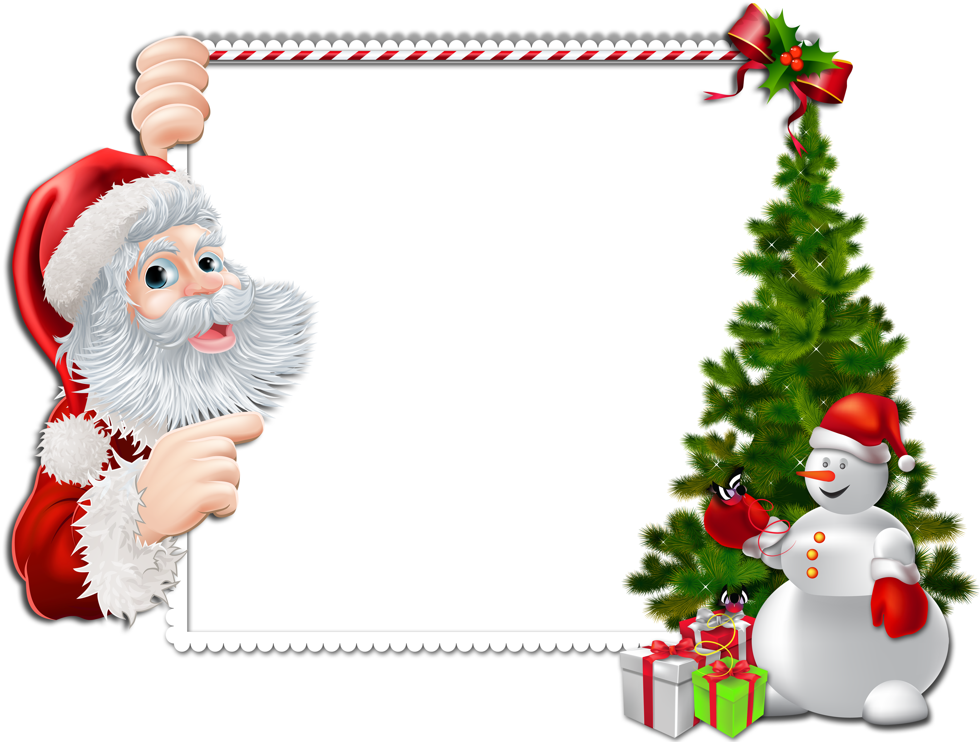 Frame clipart santa claus Claus frame png christmas