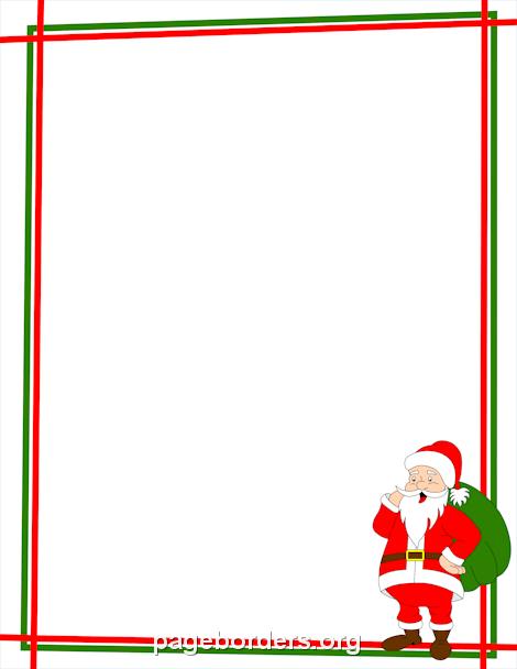 Frame clipart santa claus Border: Claus Santa Page and