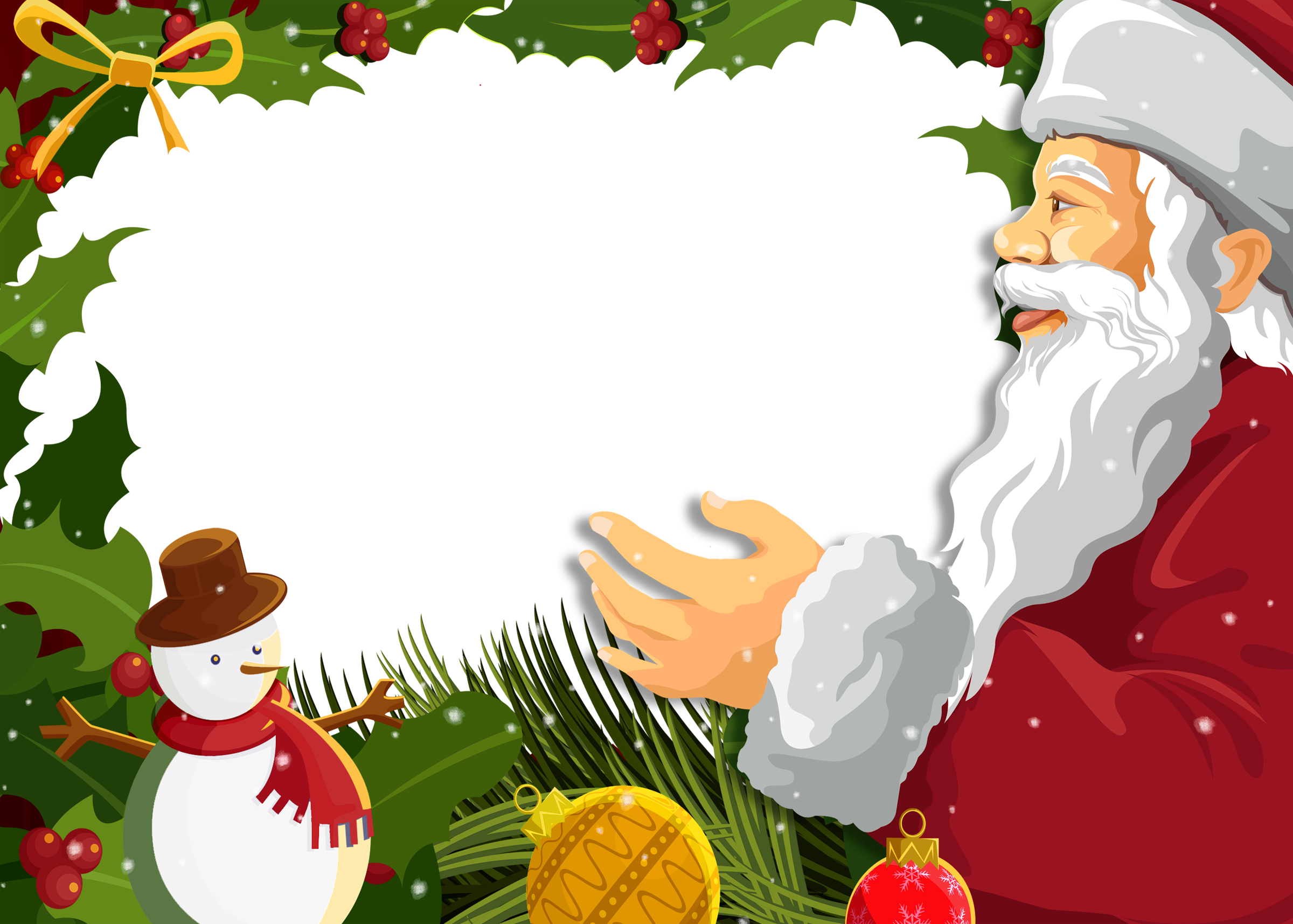 Frame clipart santa claus Full Transparent View Christmas Photo