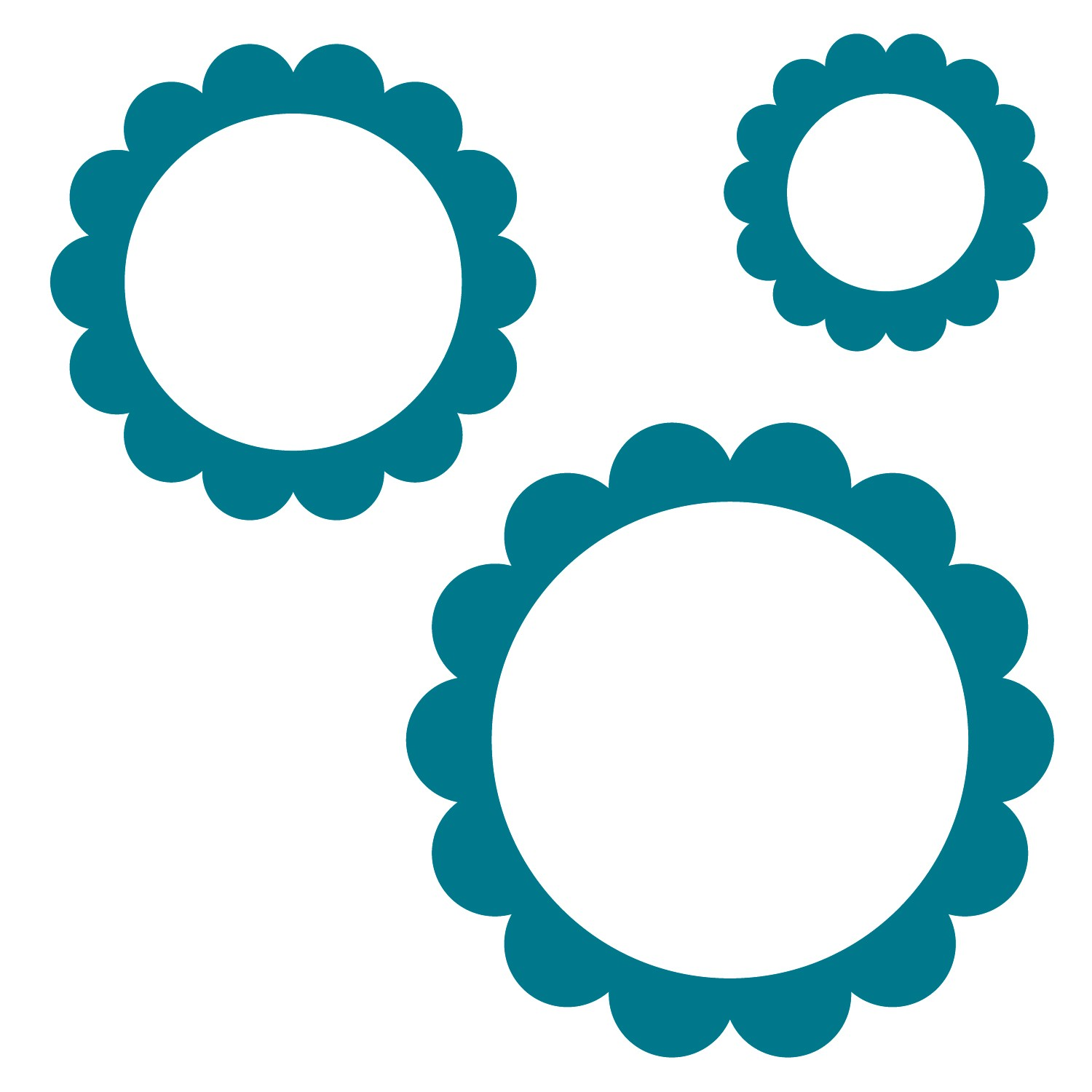 Blue clipart round frame Scalloped Art Clip Cliparts