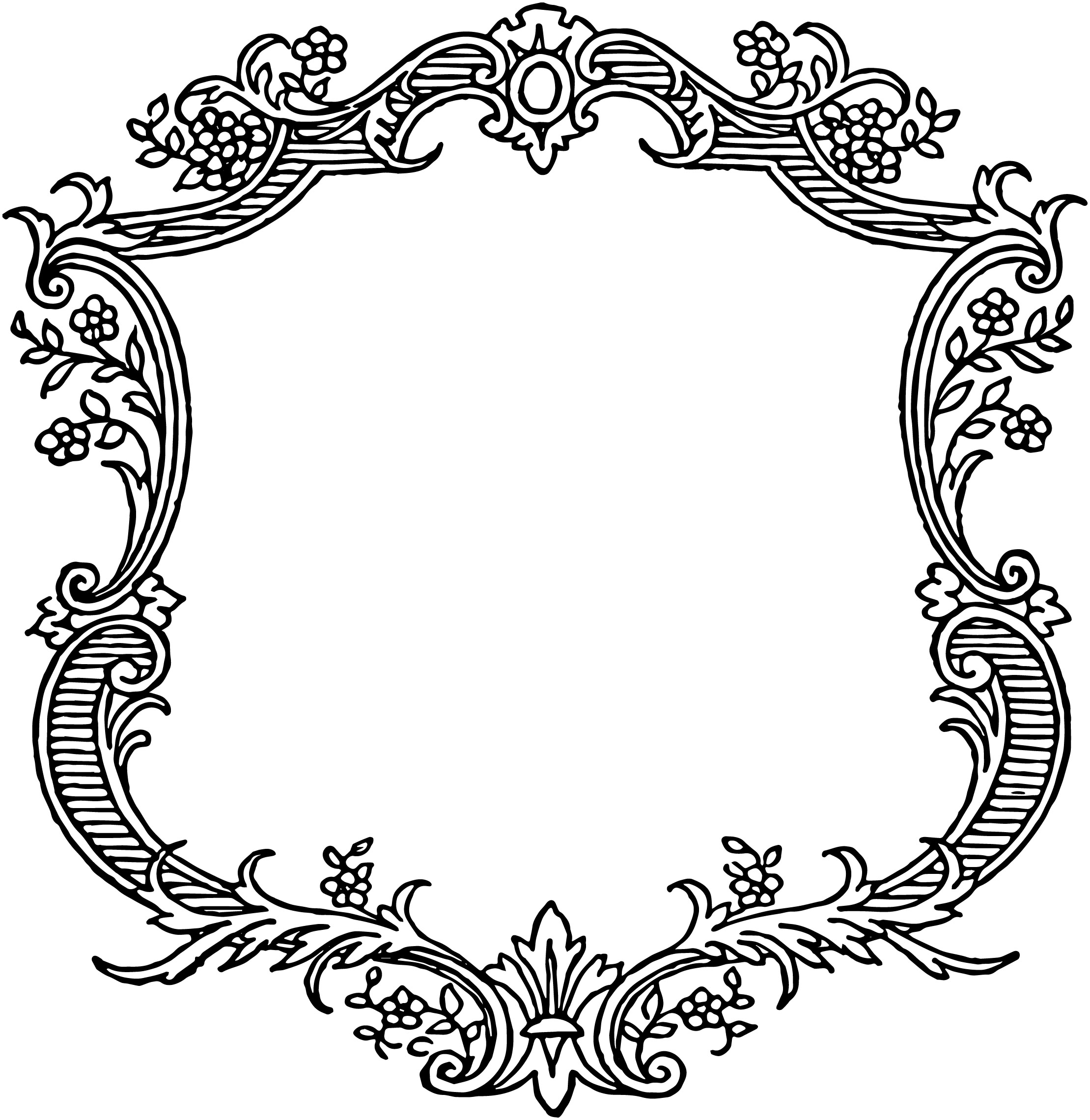 Classics clipart victorian scroll Oh Frame Floral Free ClipArt