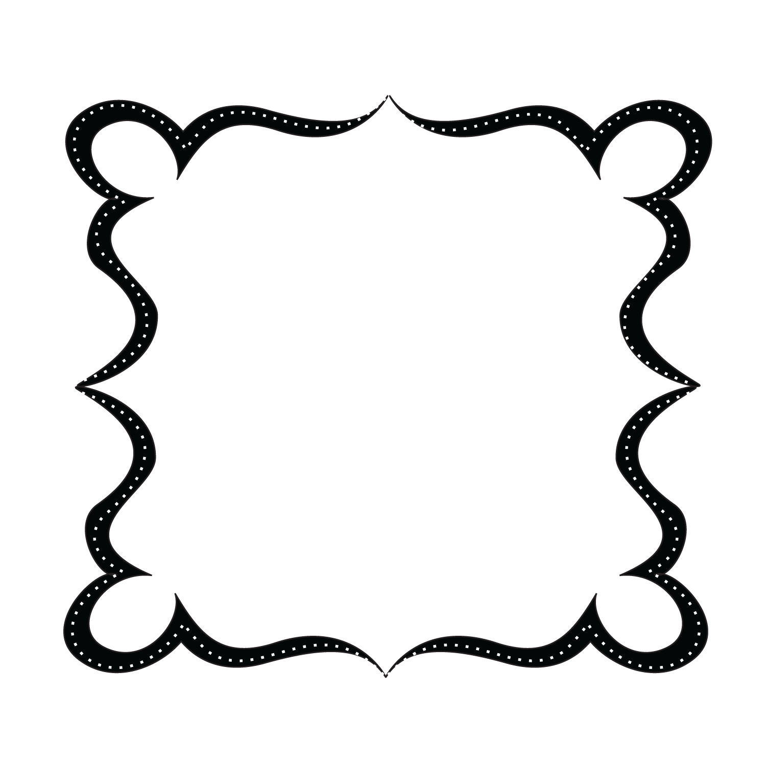 Infinity clipart black and white Frame background free Scroll Art