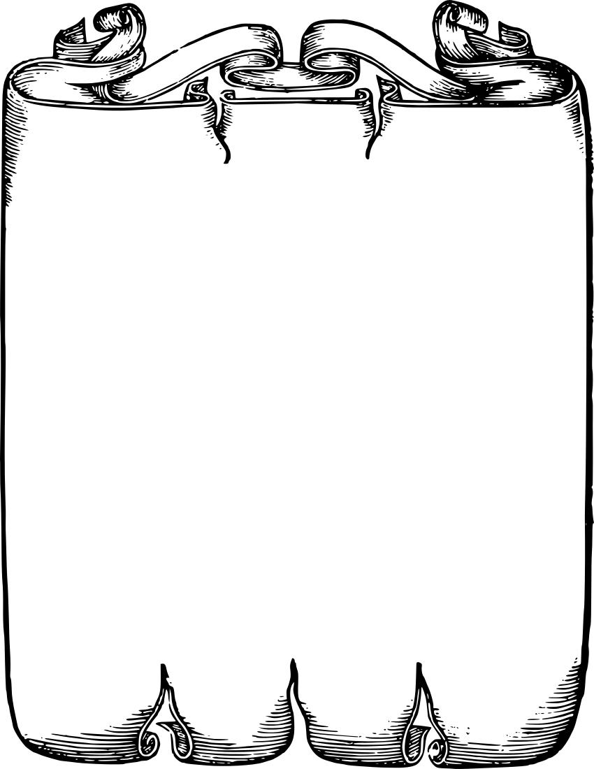 Frame clipart scrollwork Border Clip  Clip Art