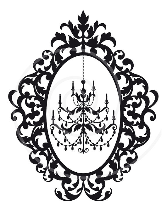 Thorns clipart antique frame Clip digital SVG use EPS