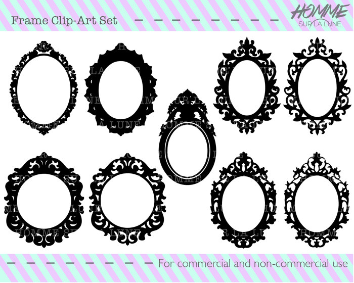 Mirror clipart baroque frame Picture frame clipart clipart clipart