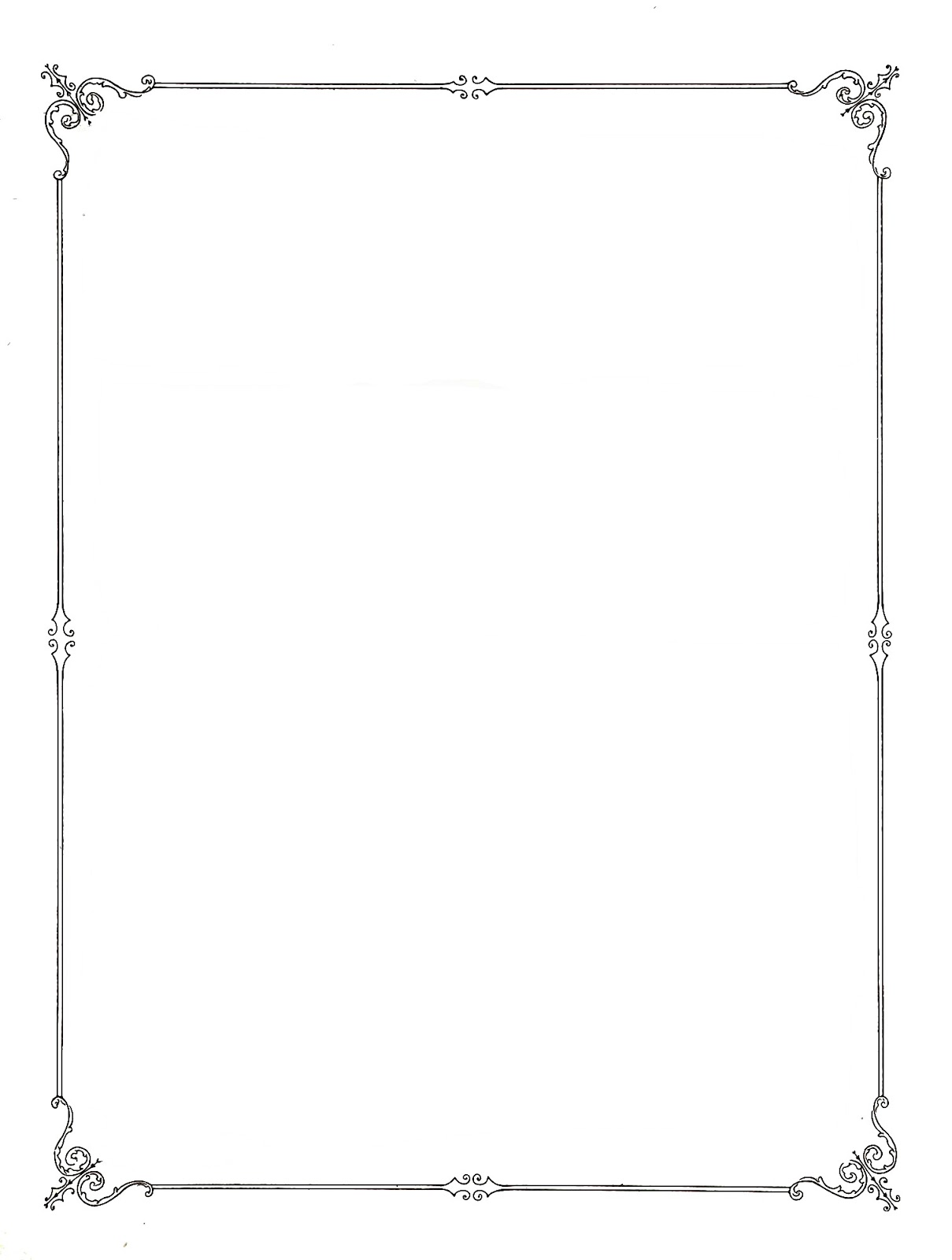 Simple clipart picture frame #13