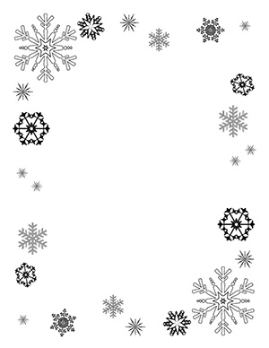 Word clipart snowflake Frame Frame Cliparts Snowflake clipart