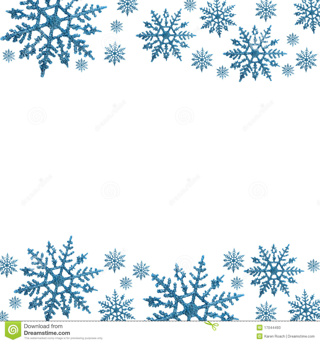 Word clipart snowflake Free snow collection clipart frame