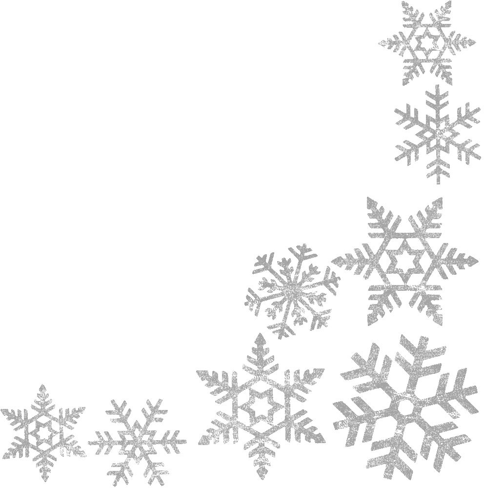 Winter clipart transparent background Frame Snowflakes Clip Free Image