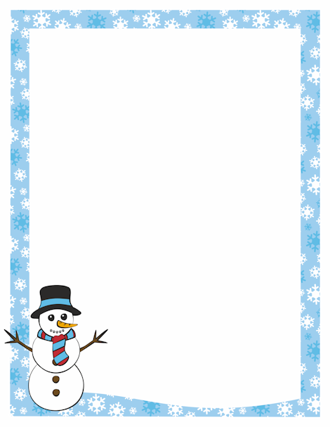 Frame clipart snowman Featuring snowflake featuring A Free