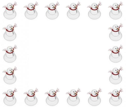 Frame clipart snowman Border Border Clip Snowman Best