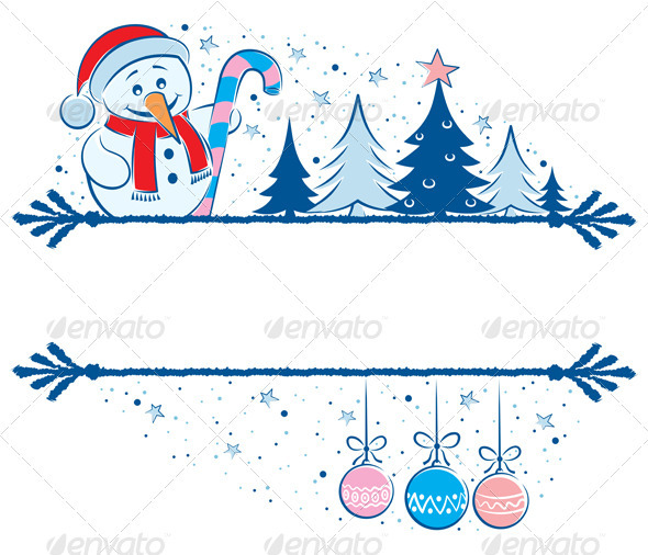 Frame clipart snowman Com Snowman Graphicriver Art Snowman