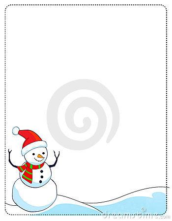Frame clipart snowman Clip Free Art Frame Snowman