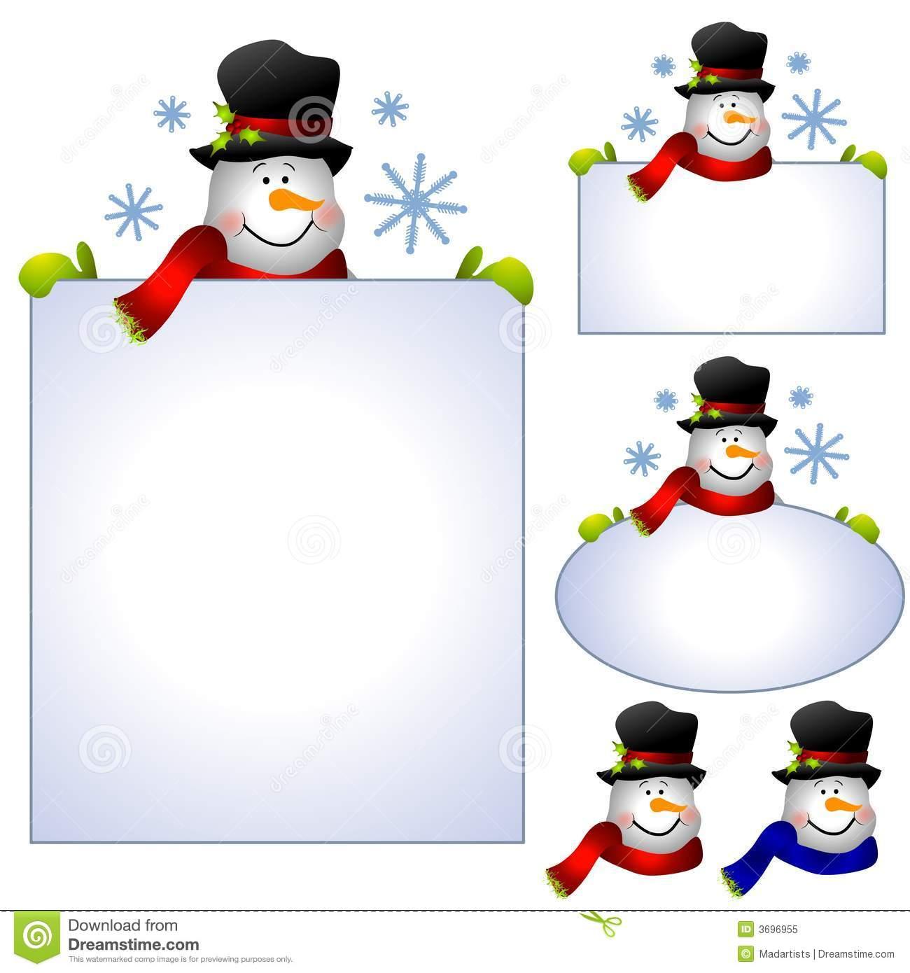 Frame clipart snowman Art clip (27+) border Border