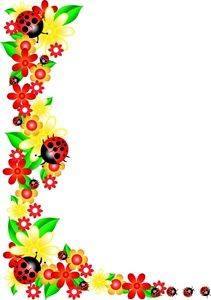 Word clipart flower Borders Art Images Floral Image: