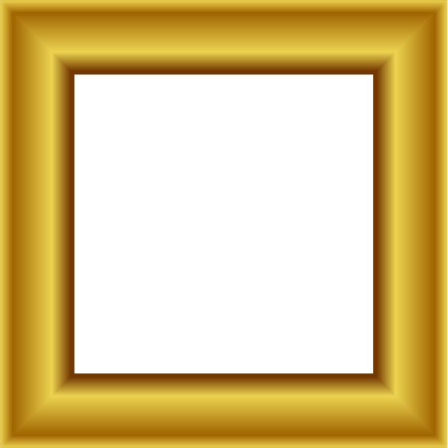 Square clipart gold frame Clip 1 Frames Frame Gold