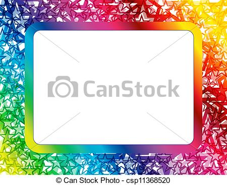 Frame clipart star Abstract  Frame Star of