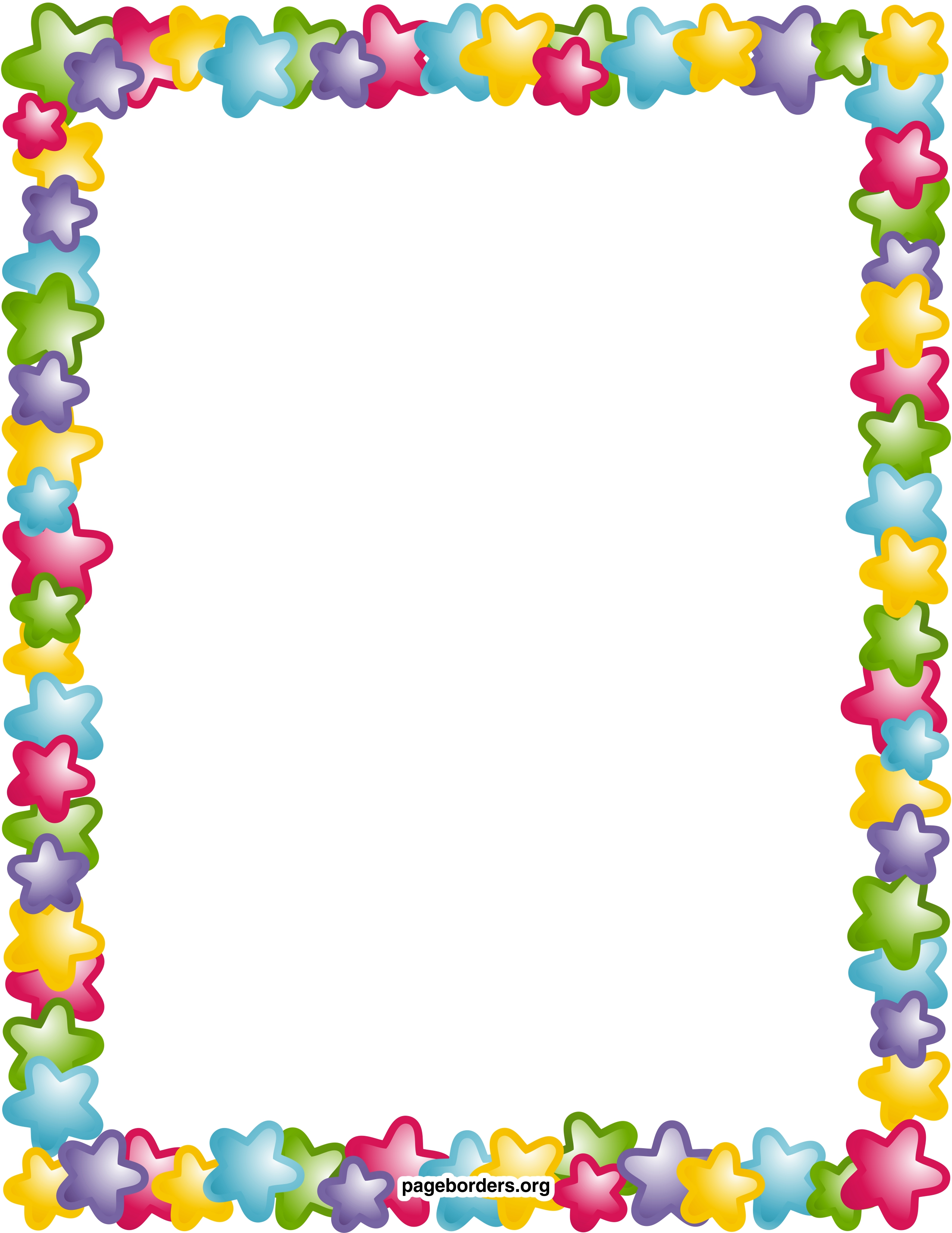 Frame clipart star Free Page Borders art Printable