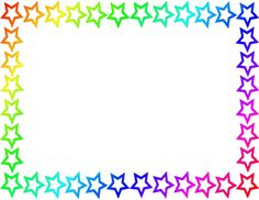 Frame clipart star Rainbow org http://pageborders Free page
