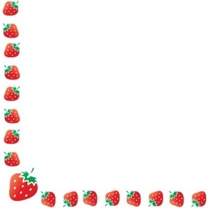 Frame clipart strawberry Border and Polyvore Strawberry Clipart