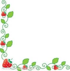 Frame clipart strawberry Shortcake Google Strawberry Border Pinterest
