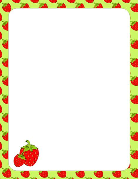 Frame clipart strawberry Border border with Strawberry art