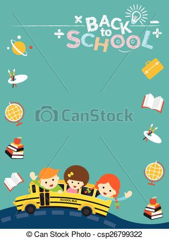 Frame clipart student Frame School Vector Bus Icon