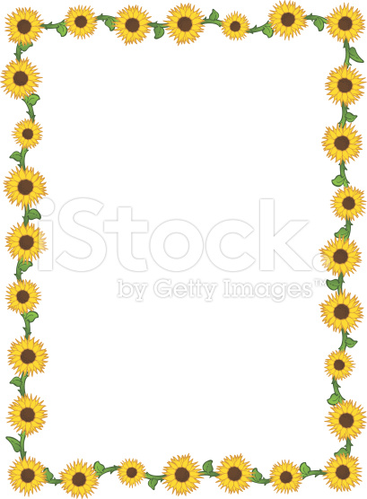 Frame clipart sunflower Free page collection borders clipart