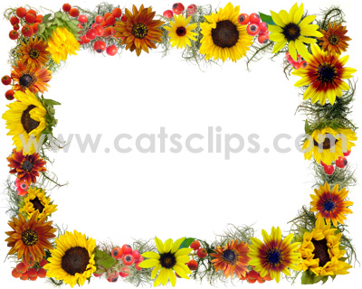 Frame clipart sunflower Borders Art Clip Fall Clip