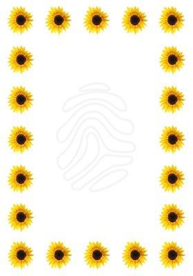 Frame clipart sunflower Word word page Google for