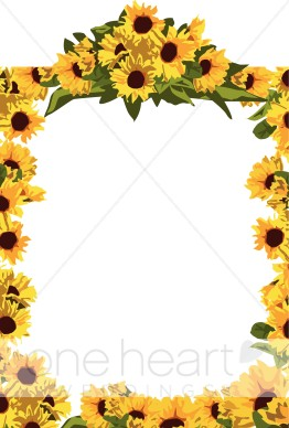 Frame clipart sunflower Frame Frame Sunflower Summer Full