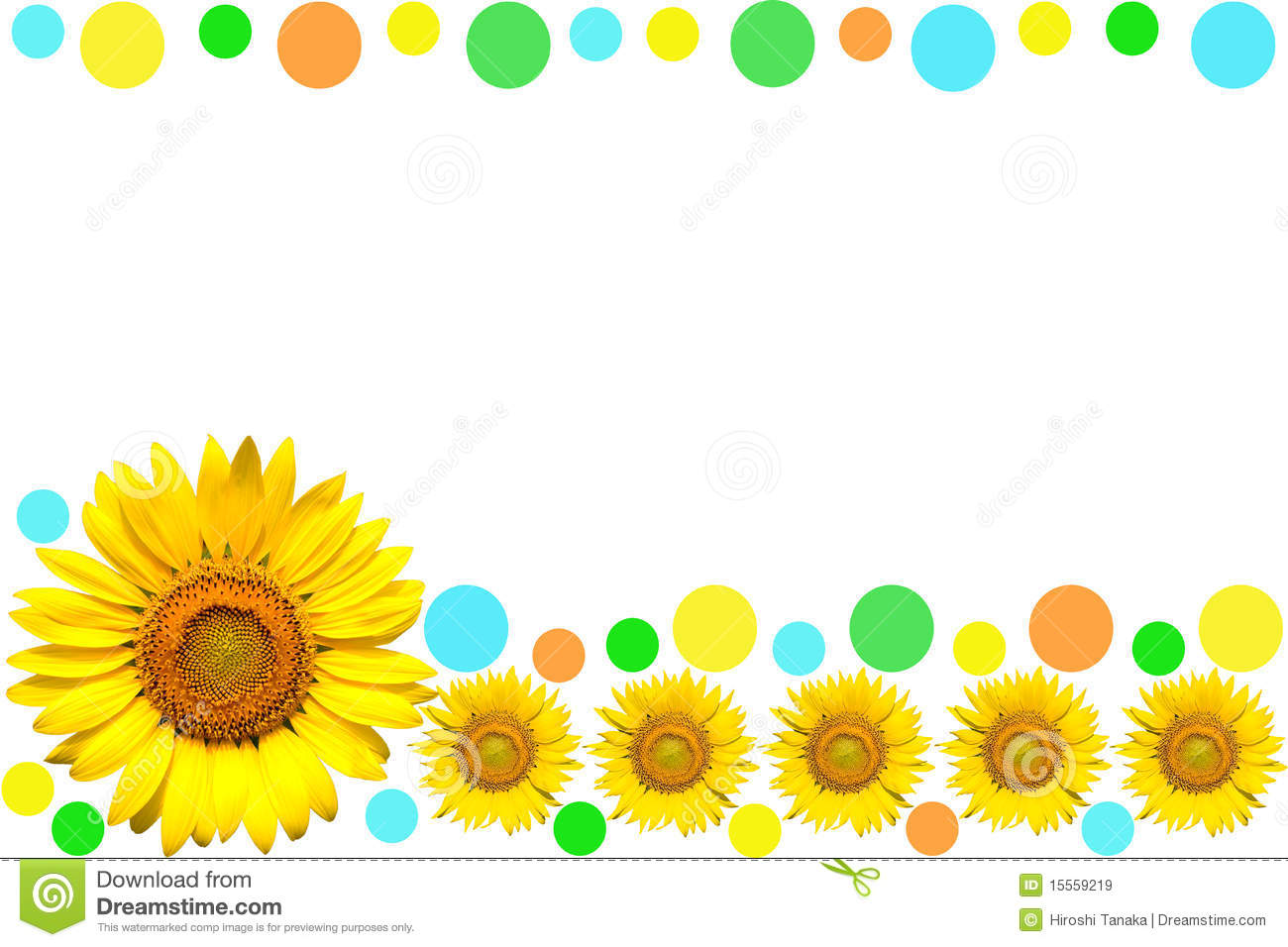 Frame clipart sunflower Panda Sunflower frame Images Free