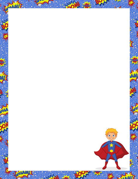 Frame clipart superhero And downloads Free GIF PNG