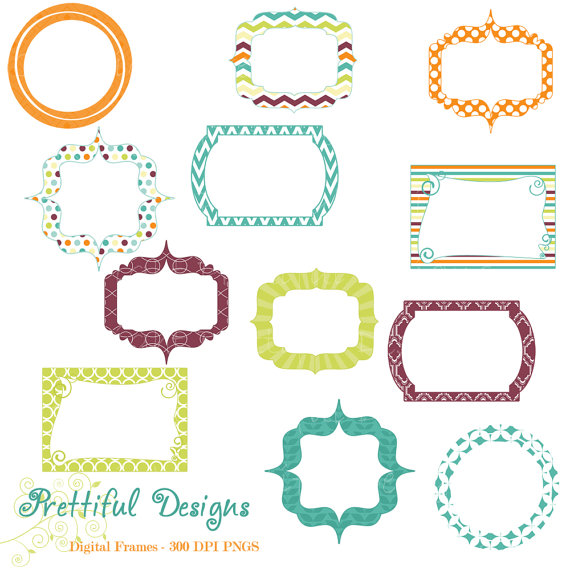 Frame clipart teal To Green similar Clip Etsy