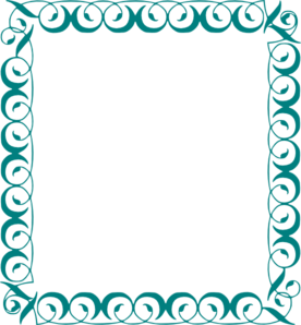 Frame clipart teal Clip Art  Decorative com