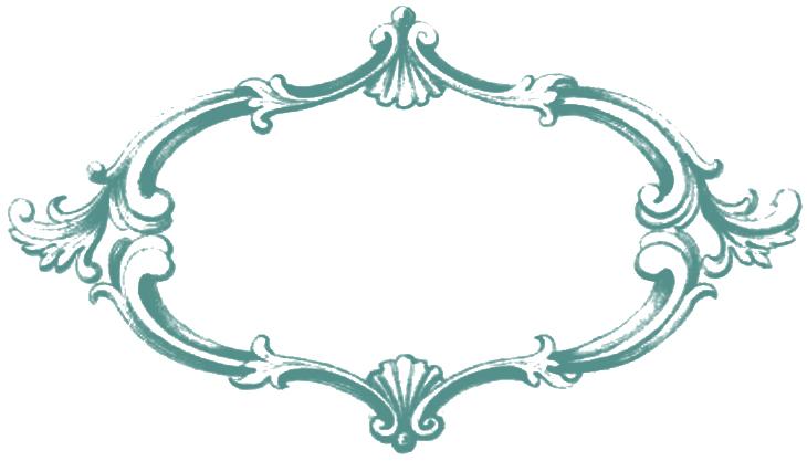 Frame clipart teal Vintage Clip  So Nifty