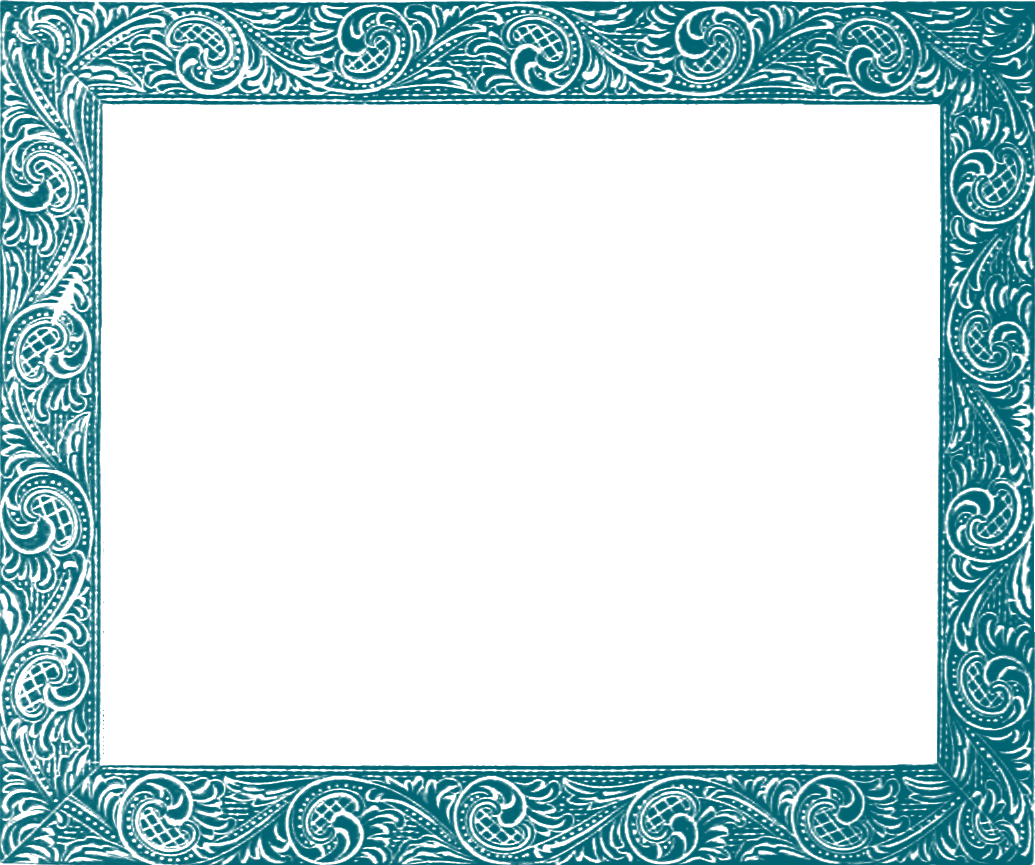 Frame clipart teal Clipart Clipart Teal So Free
