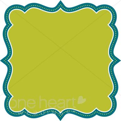 Frame clipart teal Clipart Borders Teal Frame Teal
