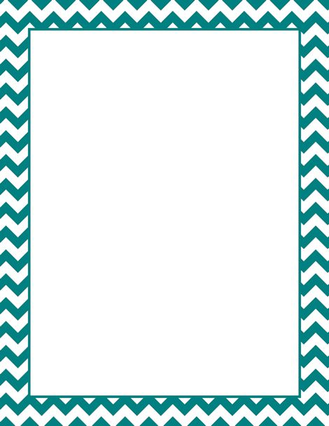 Frame clipart teal Chevron PDF on Pages images