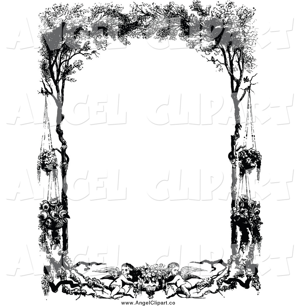 Tree clipart frame #3