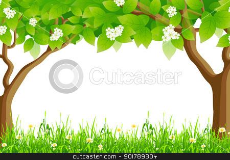 Frame clipart tree Vector Frame Summer stock Summer