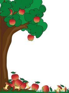 Tree clipart frame #4