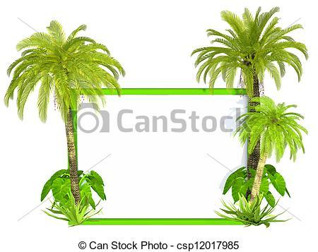 Frame clipart tree Illustration csp12017985 frame Stock Palm