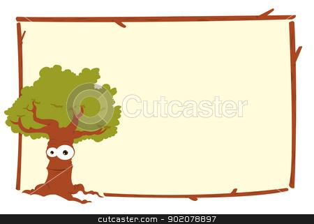Frame clipart tree Clipart stock tree frame vector
