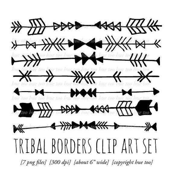 Frame clipart tribal Clipart border borders art outlines